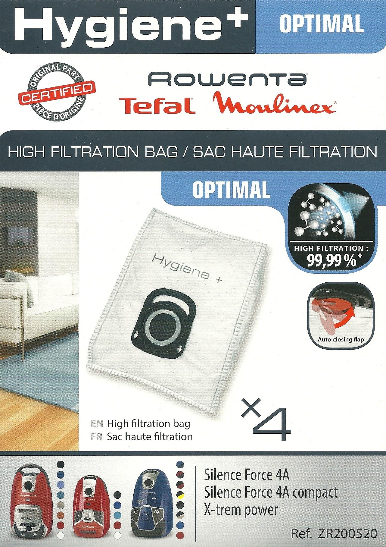 saci hygiene plus pentru aspiratorul rowenta silence force 4a zr2005. Black Bedroom Furniture Sets. Home Design Ideas